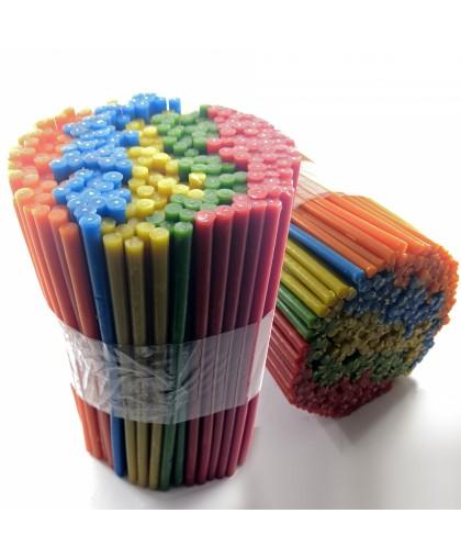 Набор цветных восковых свечей (5 цветов) упаковка 2КГ