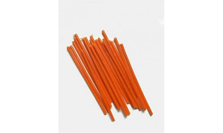 Оранжевые восковые свечи с использованием НАТУРАЛЬНОГО пигмента в магазине УРАЛСВЕЧА
