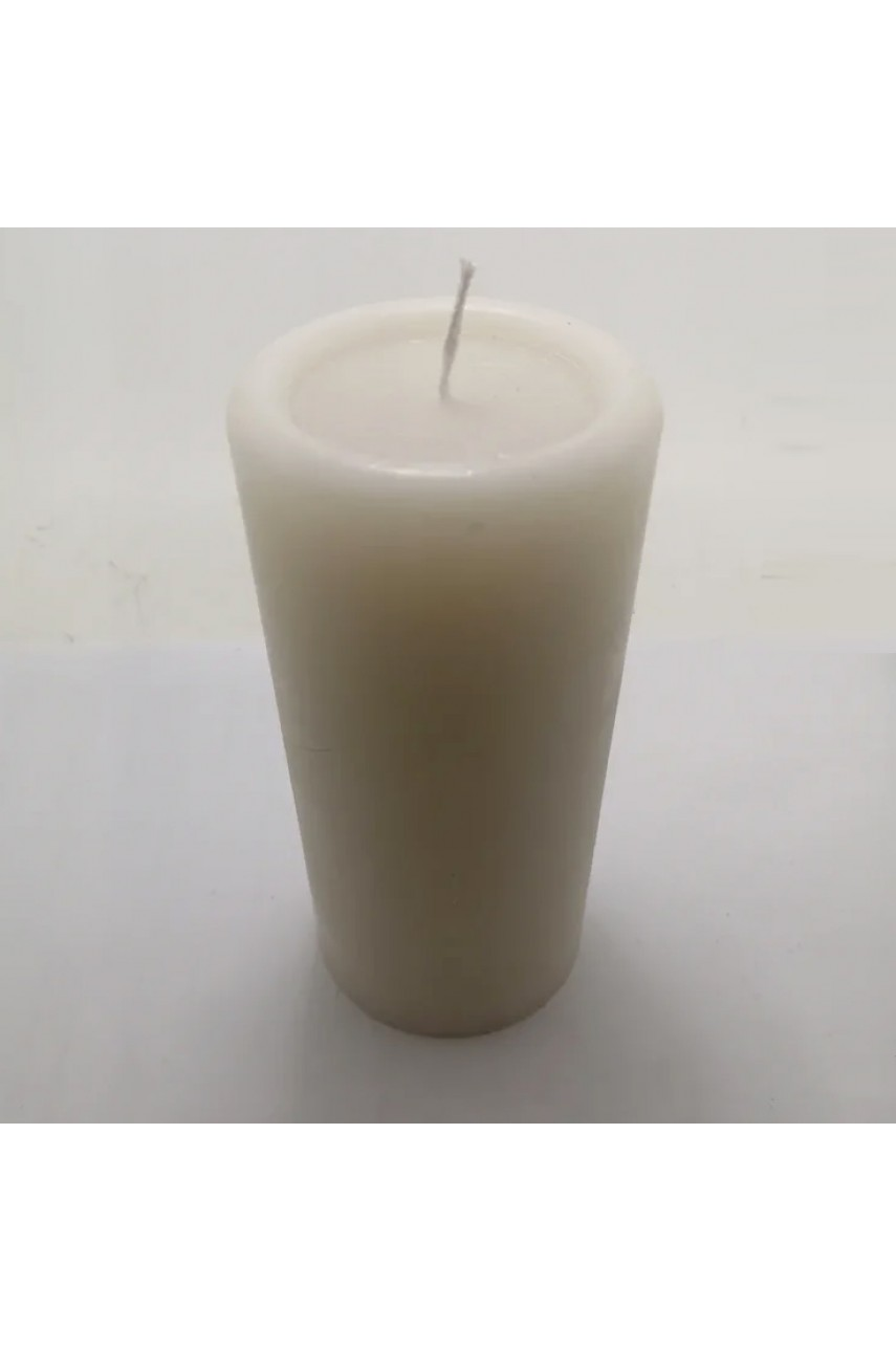 Декоративные пеньковые свечи 170х70мм (БЕЛЫЕ)
