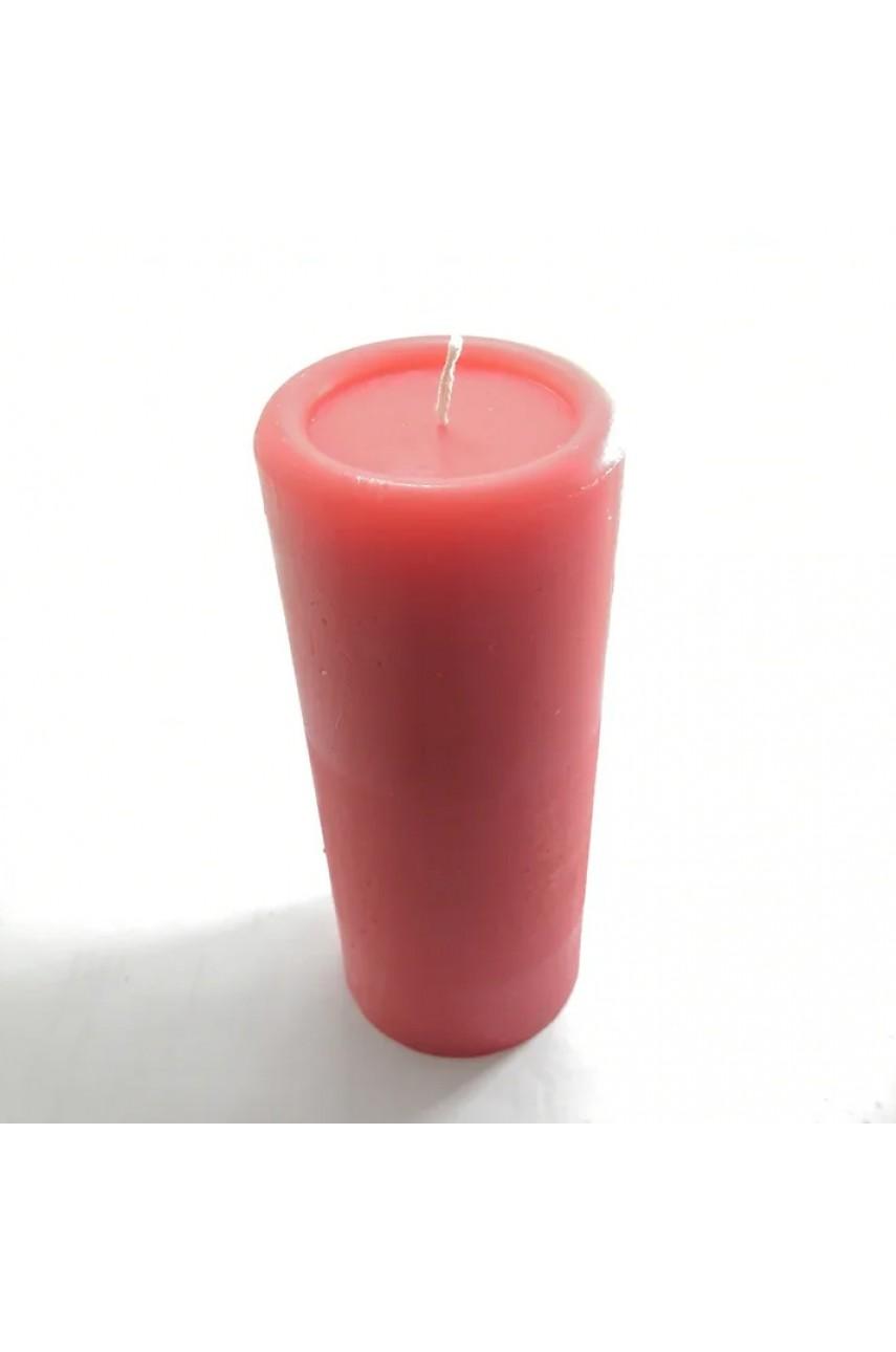 Декоративные пеньковые свечи 170х70мм (ЯРКО-КРАСНЫЕ)