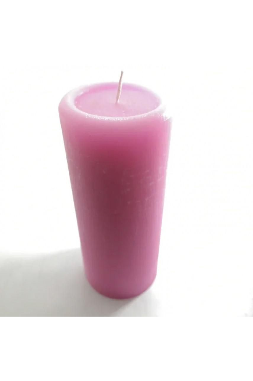 Декоративные пеньковые свечи 170х70мм (РОЗОВЫЕ)