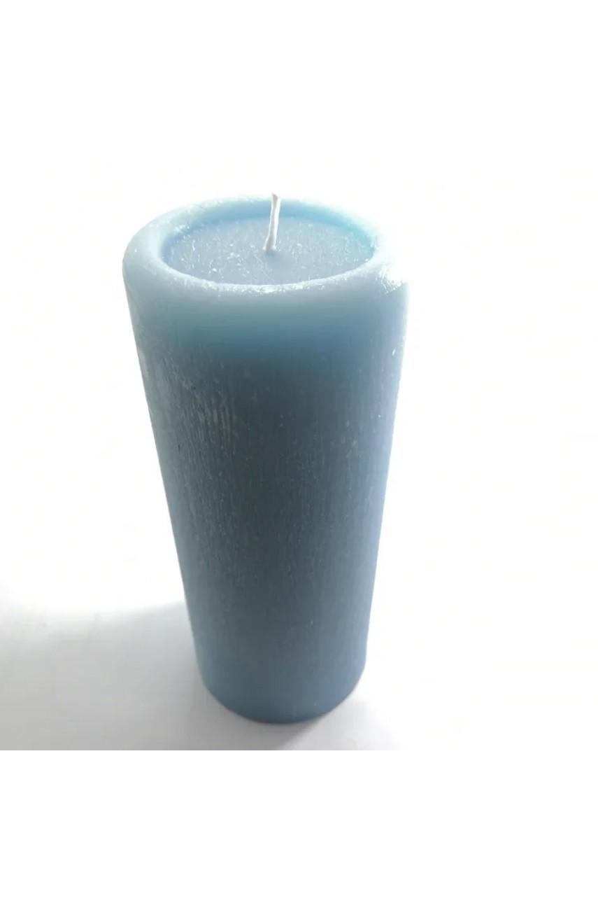 Декоративные пеньковые свечи 170х70мм (ГОЛУБЫЕ)