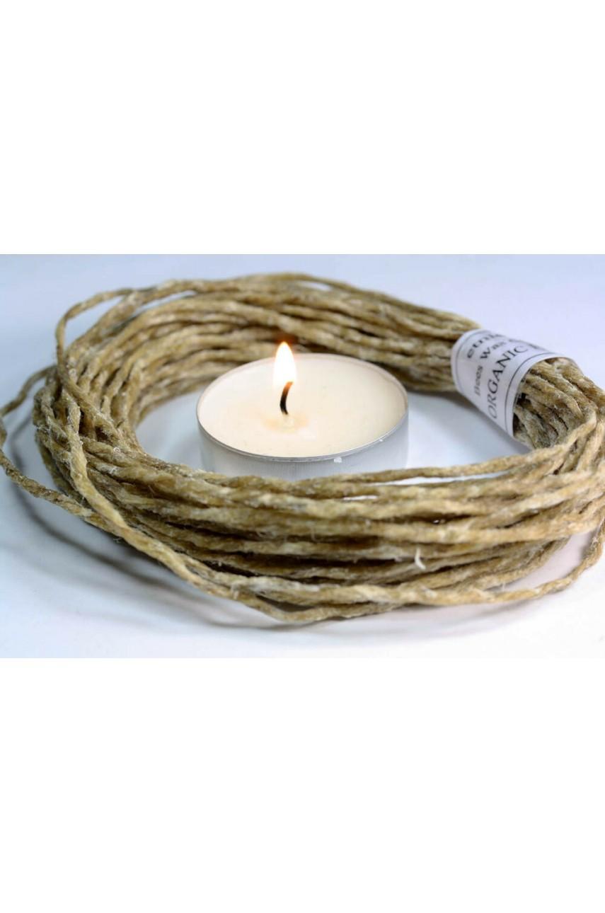 Фитиль для свечей вощеный (16-35см)