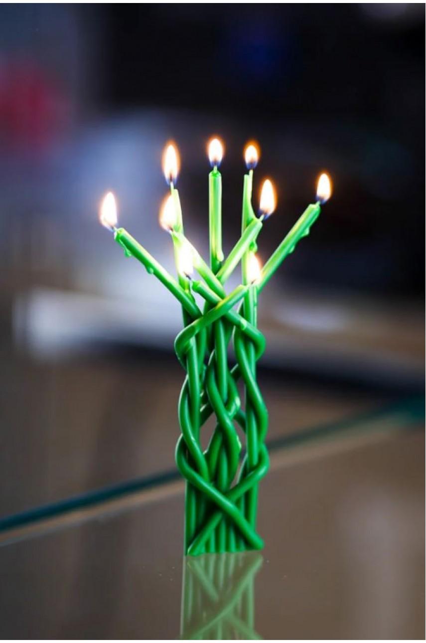 Плетеная ритуальная (Цыганская) свеча (На Достаток)