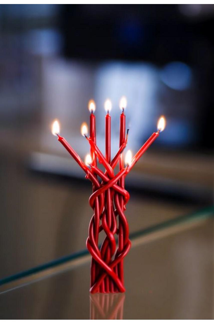 Плетеная ритуальная (Цыганская) свеча (На любовь)