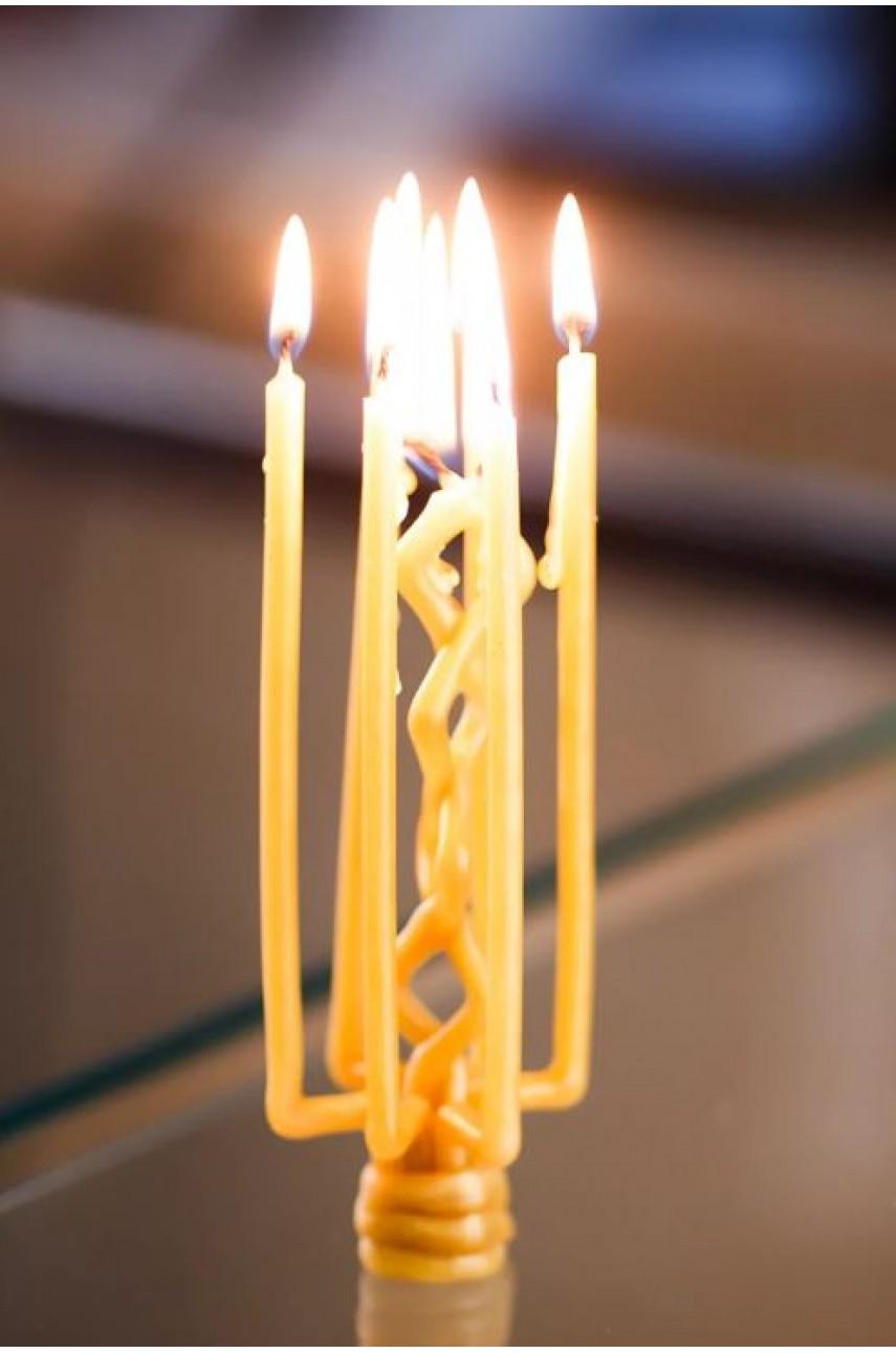 Плетеная ритуальная (Цыганская) свеча (на Защиту)