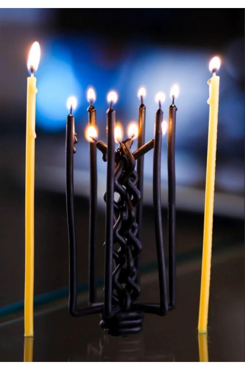 Плетеная ритуальная (Цыганская) свеча (на Чистку)