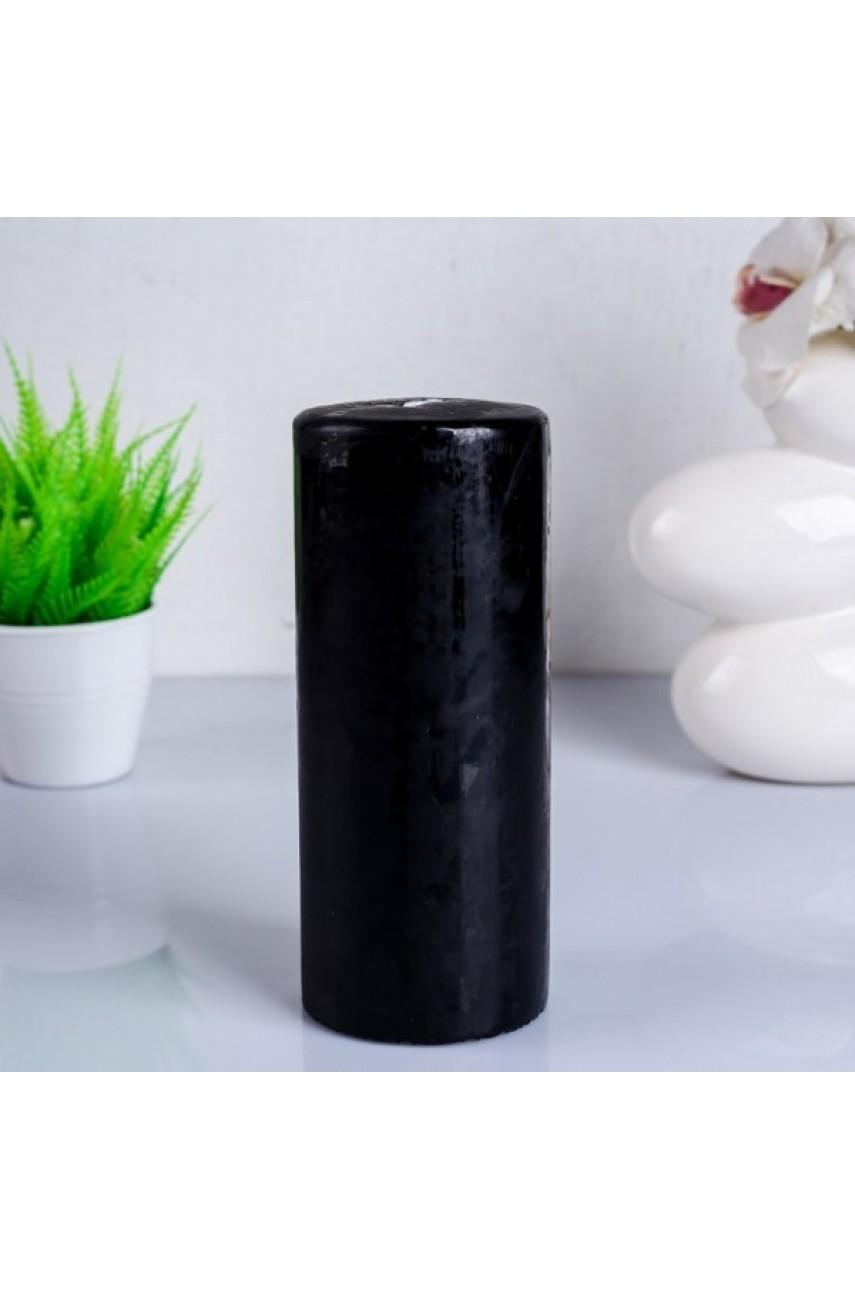 Свеча классическая 8х20 см, черная